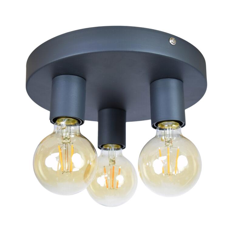 Urban Interiors plafondlamp 'Triple' Ø25cm, kleur Vintage Black