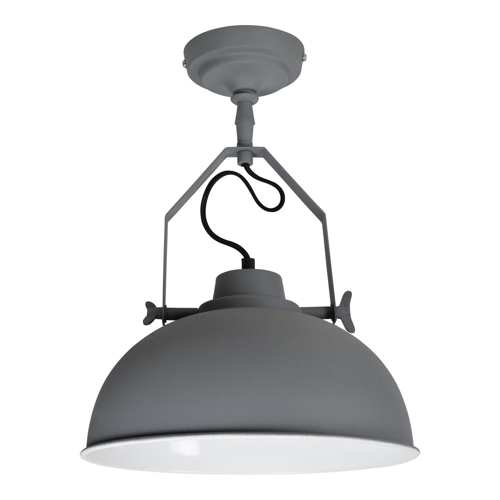 Urban Interiors Plafondlamp 'Urban' 30cm, kleur grijs Verlichting | Plafondlampen vergelijken doe je het voordeligst hier bij Meubelpartner