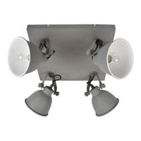 Urban Interiors Stoere spot 'Industrial' 4-lichts, kleur Vintage Grey