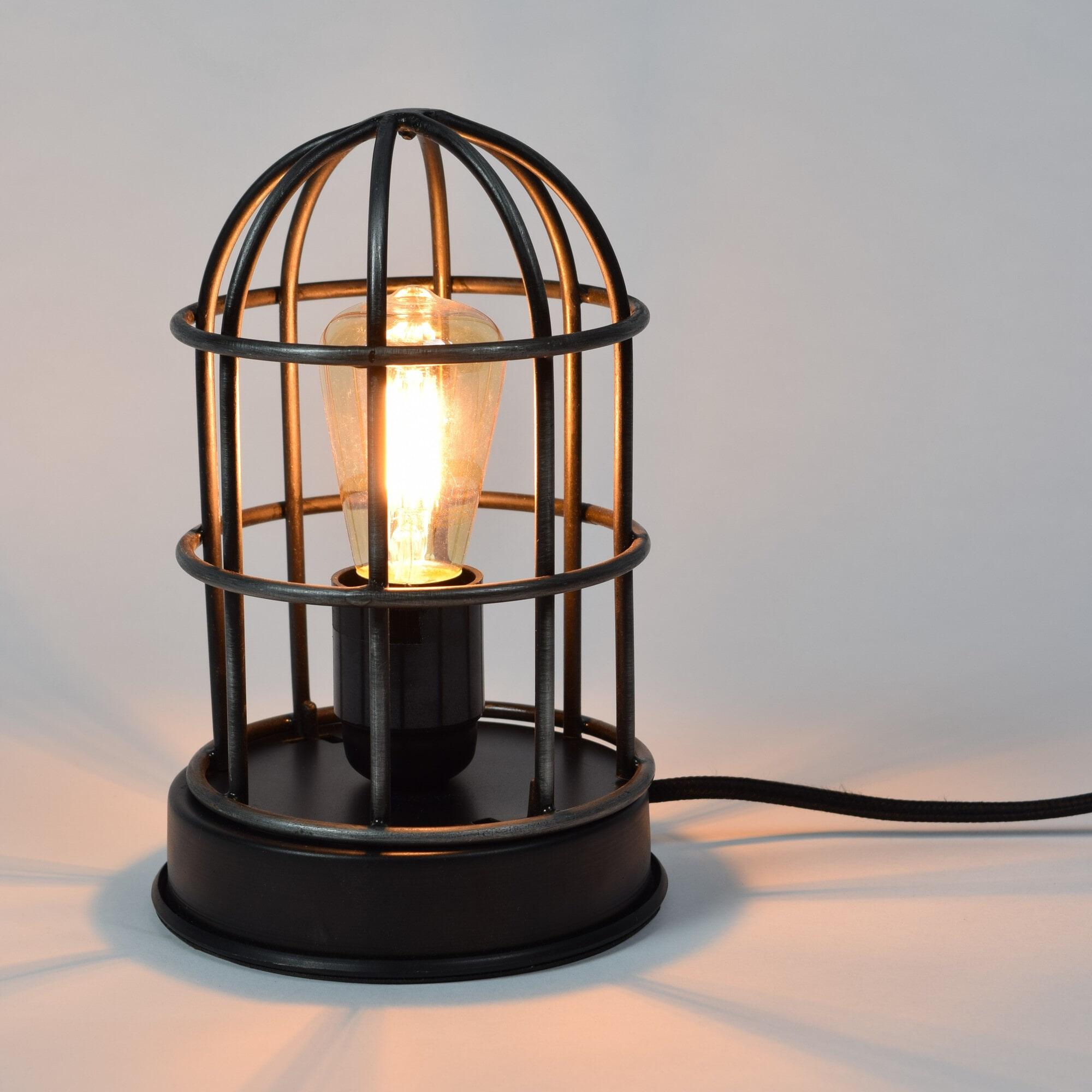 Urban Interiors tafellamp 'Barn', kleur Vintage Black Verlichting | Tafellampen vergelijken doe je het voordeligst hier bij Meubelpartner