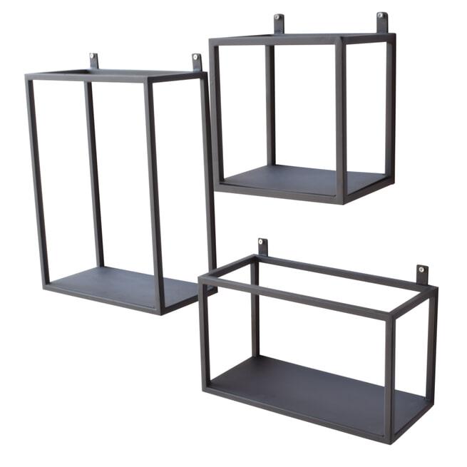 Urban Interiors wandboxes (Set van 3), kleur Vintage Black