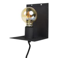 Urban Interiors Wandlamp 'Hook', kleur zwart