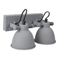 Urban Interiors Wandlamp 'Industrial double' kleur grijs