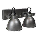 Urban Interiors Wandlamp 'Industrial double' kleur zink