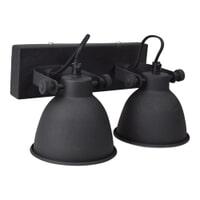 Urban Interiors Wandlamp 'Industrial double' kleur zwart
