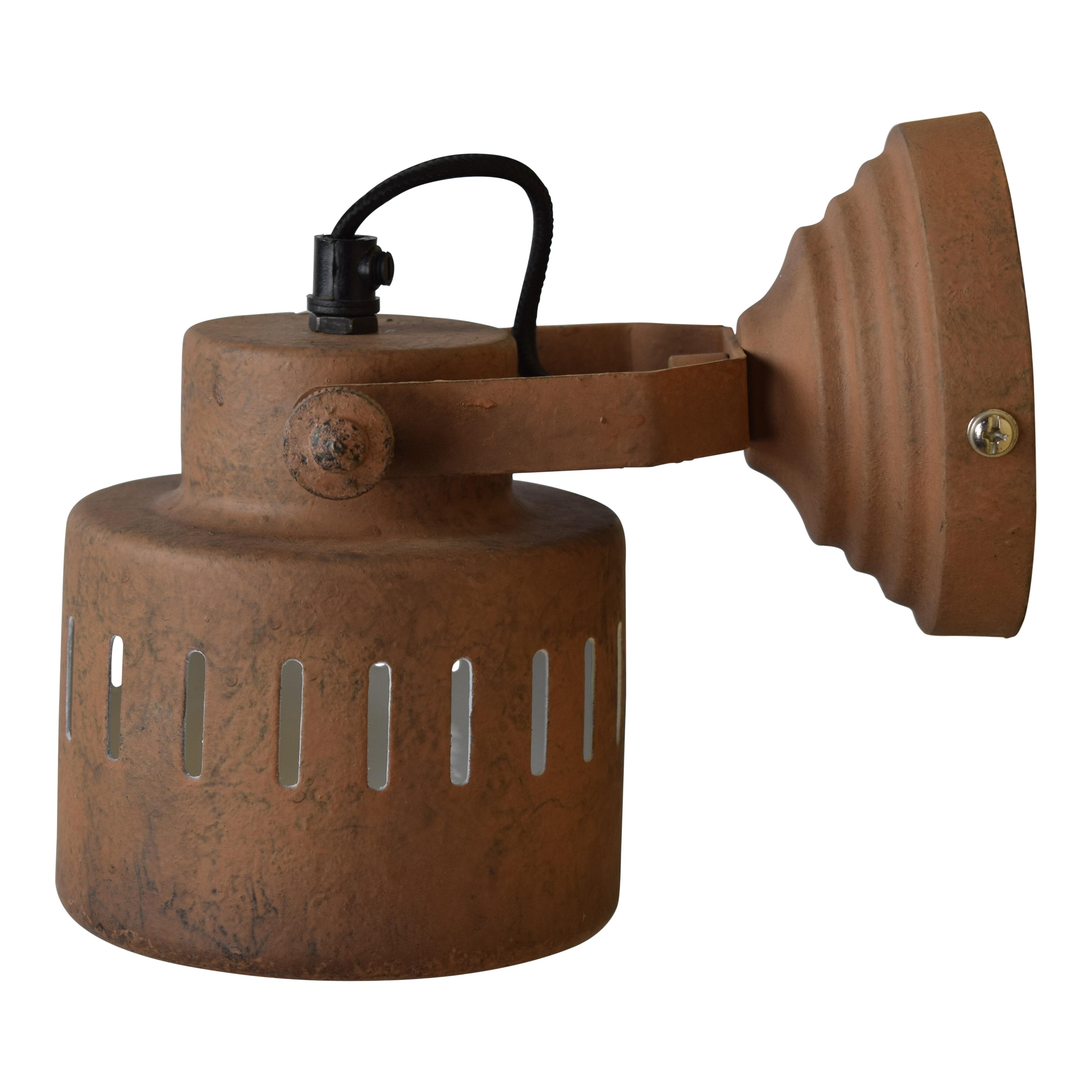 Urban Interiors wandlamp 'Vintage Rusty' ?11,5cm Verlichting   Wandlampen vergelijken doe je het voordeligst hier bij Meubelpartner