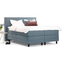 Sohome Boxspring 'Suzan'-Grijs-blauw-180 x 210 cm-Elektrisch verstelbaar