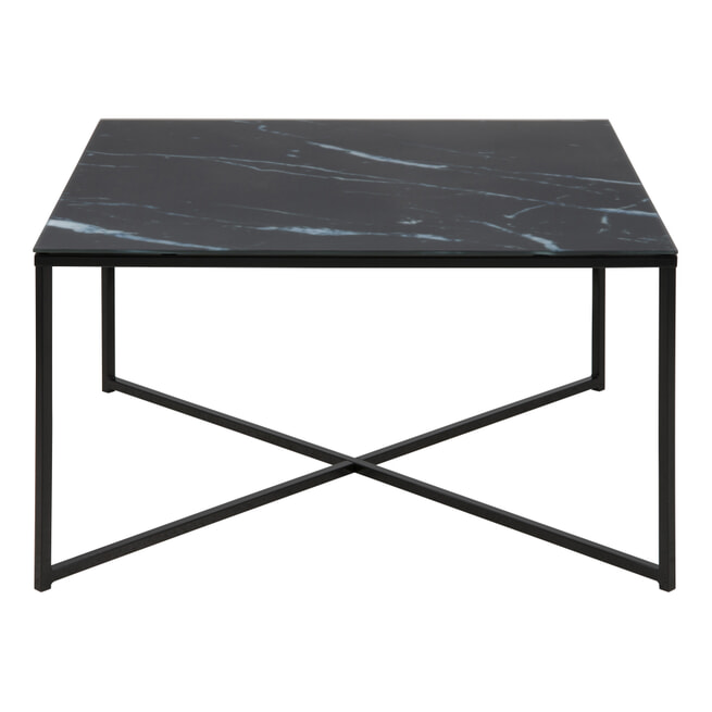 Bendt Vierkante Salontafel 'Cay' 80cm, zwart marmer