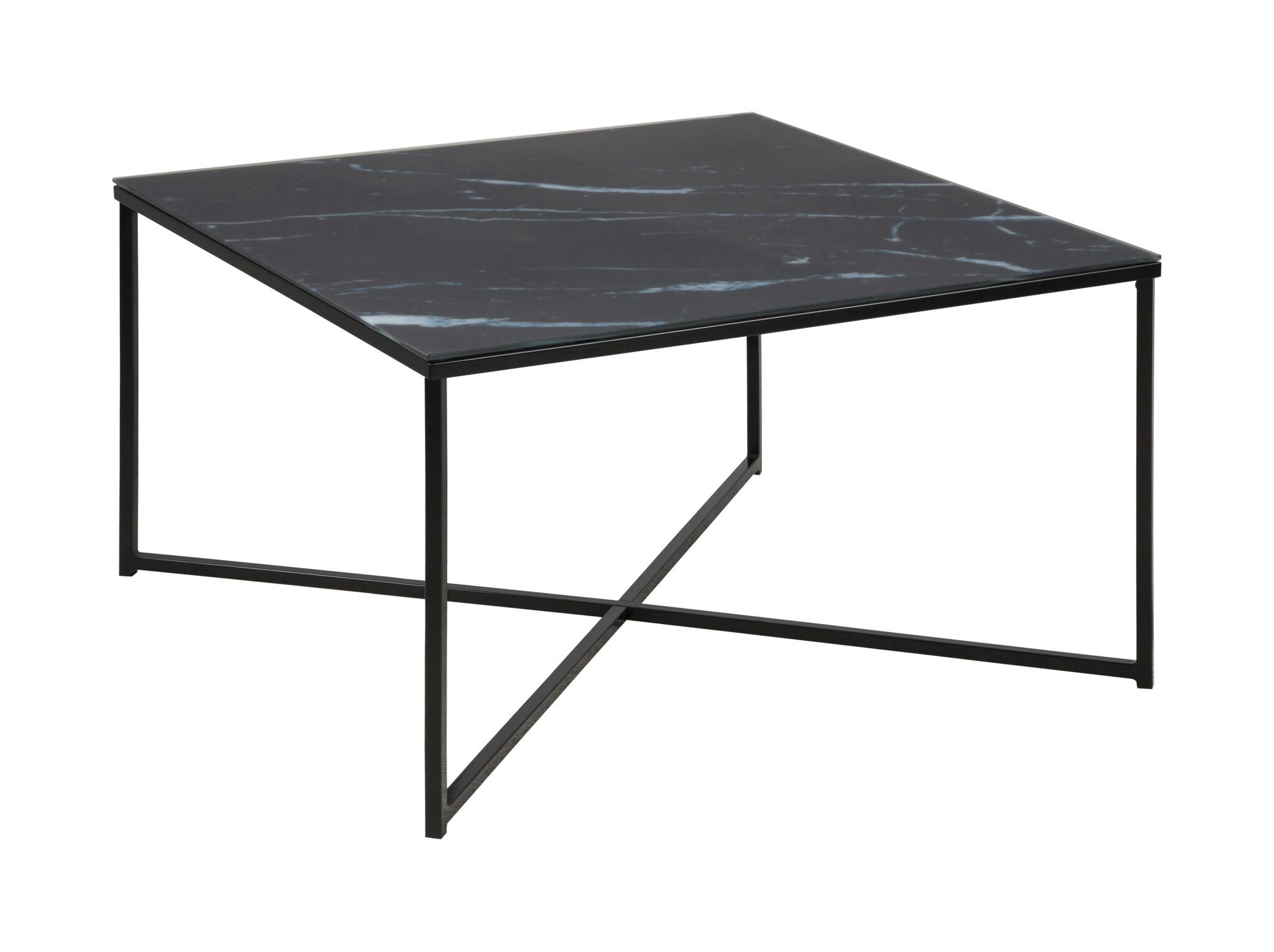 Zwarte Vierkante Salontafel.Bendt Vierkante Salontafel Cay 80cm Zwart Marmer