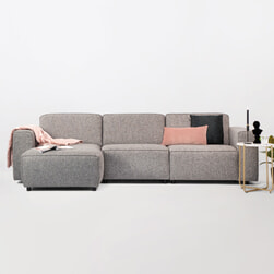 Sohome Loungebank 'Oscar' Links, Kleur Liver