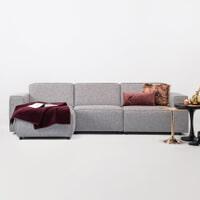 Sohome Loungebank 'Oscar' Links, Kleur Zinc