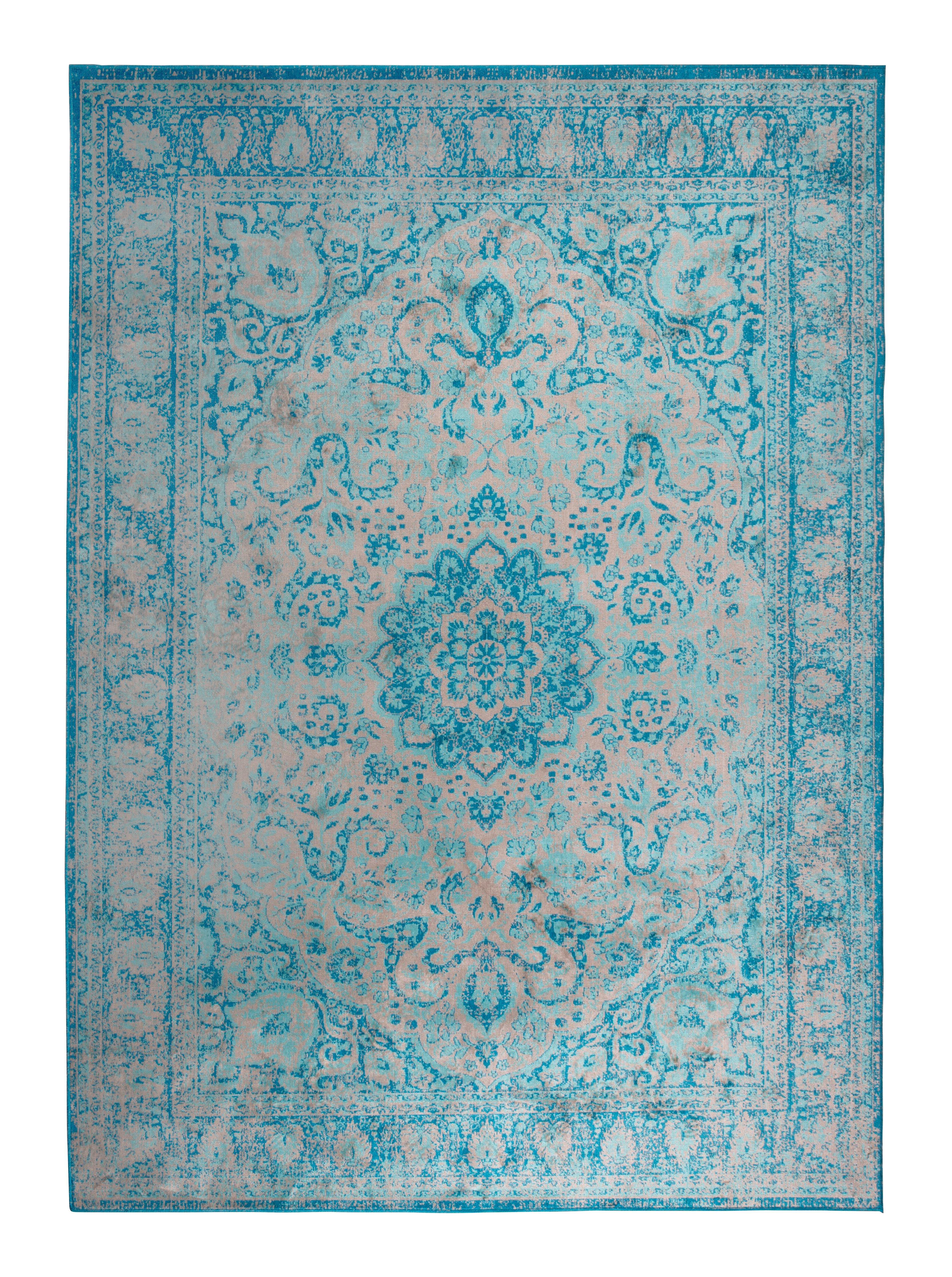 Vloerkleed 'Elian' 160 x 230cm, kleur Blauw
