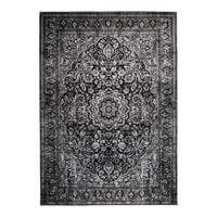 Vloerkleed 'Elian' 160 x 230cm, kleur Zwart