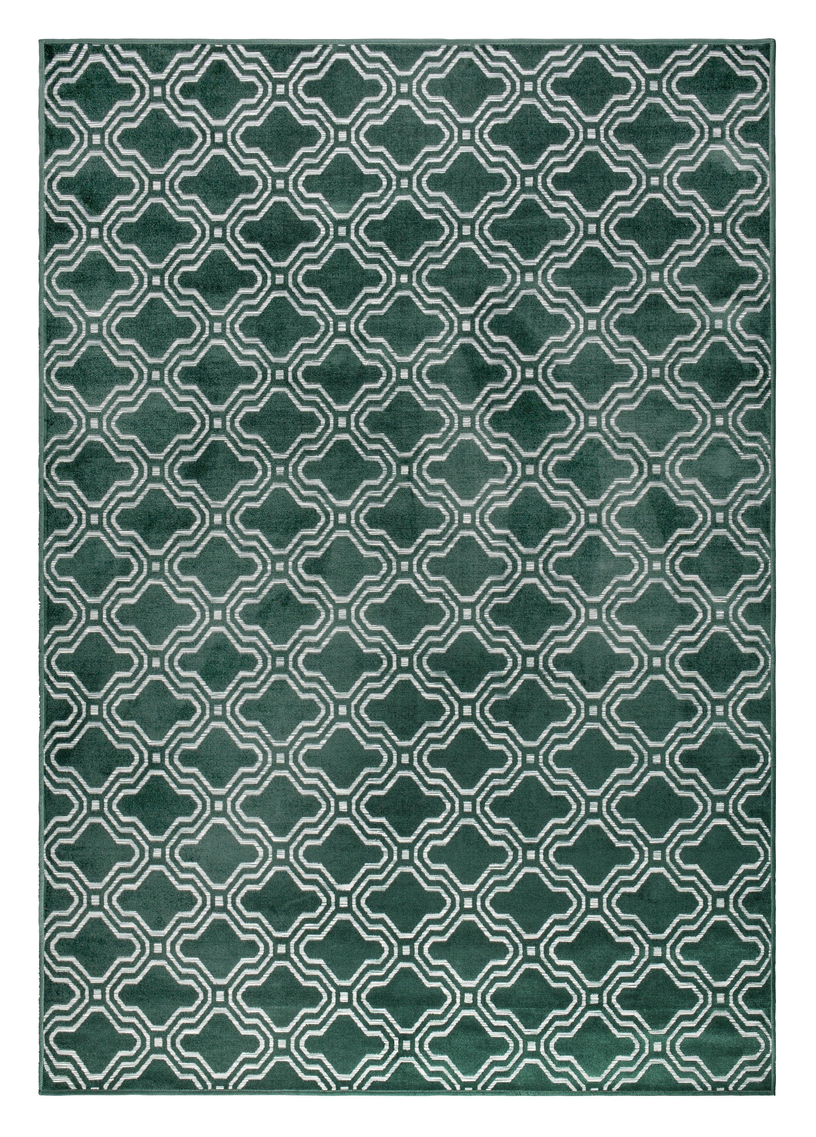 Vloerkleed 'Reynaldo' 160 x 230cm, kleur groen 52% viscose, 36% katoen, 12% polyester aanschaffen? Kijk hier!