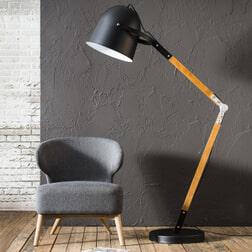 Vloerlamp 'Vincent' kleur zwart