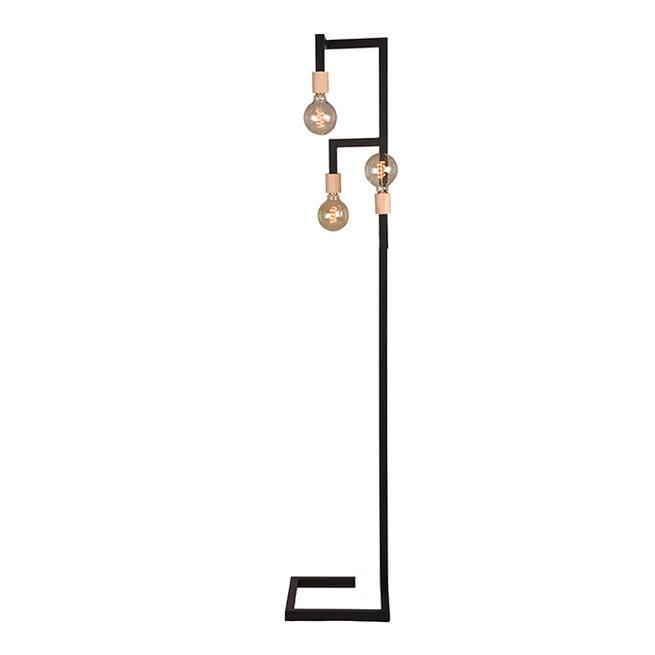 LABEL51 Vloerlamp 'Loco', Metaal, 3 lamps, kleur Zwart