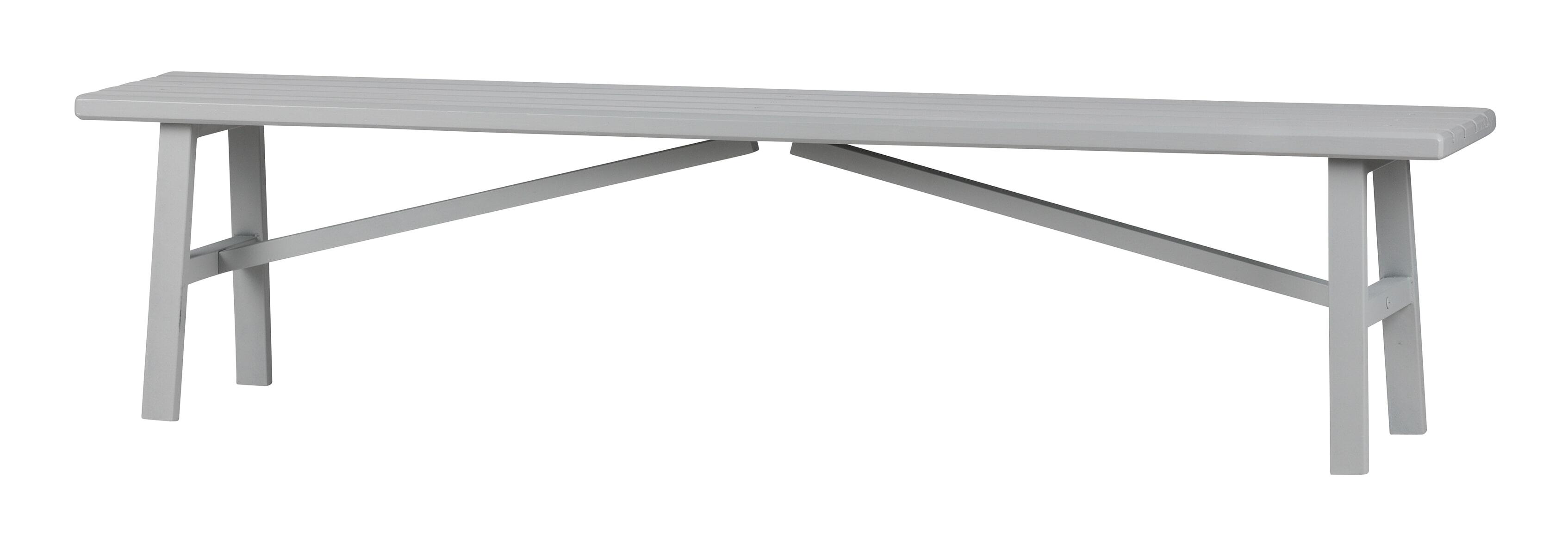 vtwonen Bankje 'Side' 160cm, kleur Betongrijs met voordeel snel in huis via Meubel Partner