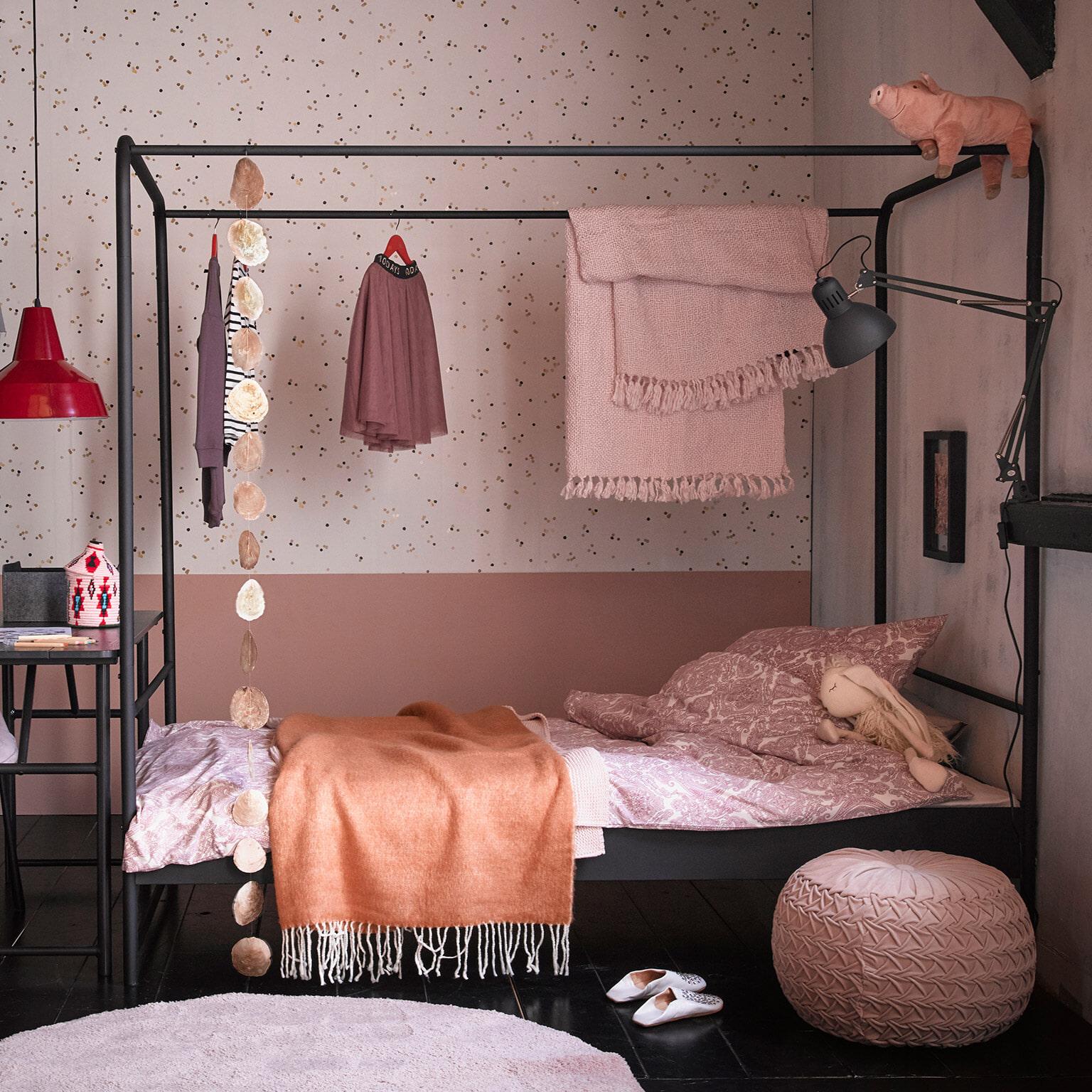 vtwonen Bed 'Bunk' 90 x 200cm, kleur Zwart