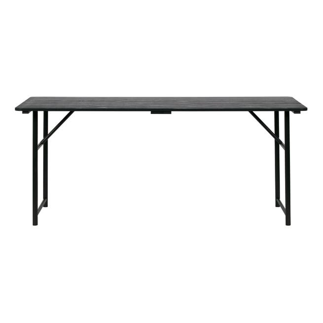 vtwonen Eettafel 'Army' 180 x 80cm, mat zwart