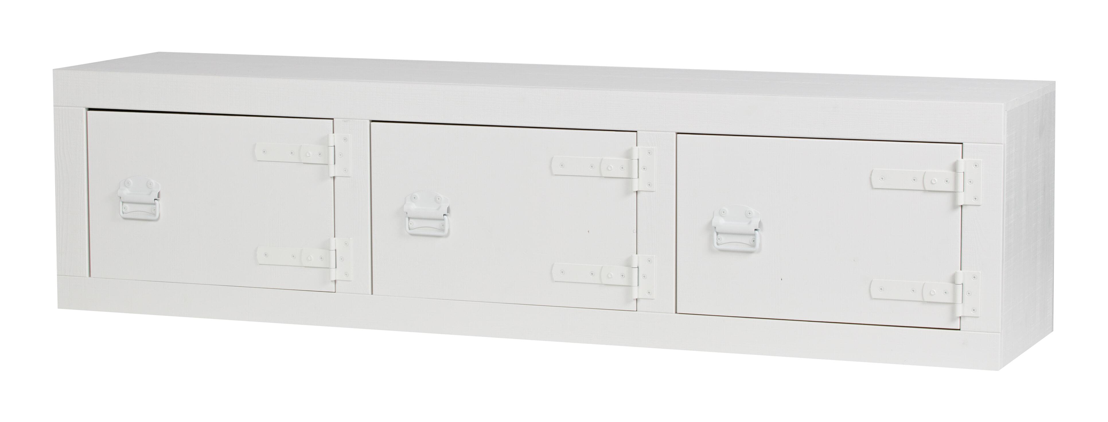 vtwonen Tv-meubel 'Bunk' 177cm, kleur Wit Grofgezaagd grenenhout afgewerkt in kleur wit aanschaffen? Kijk hier!