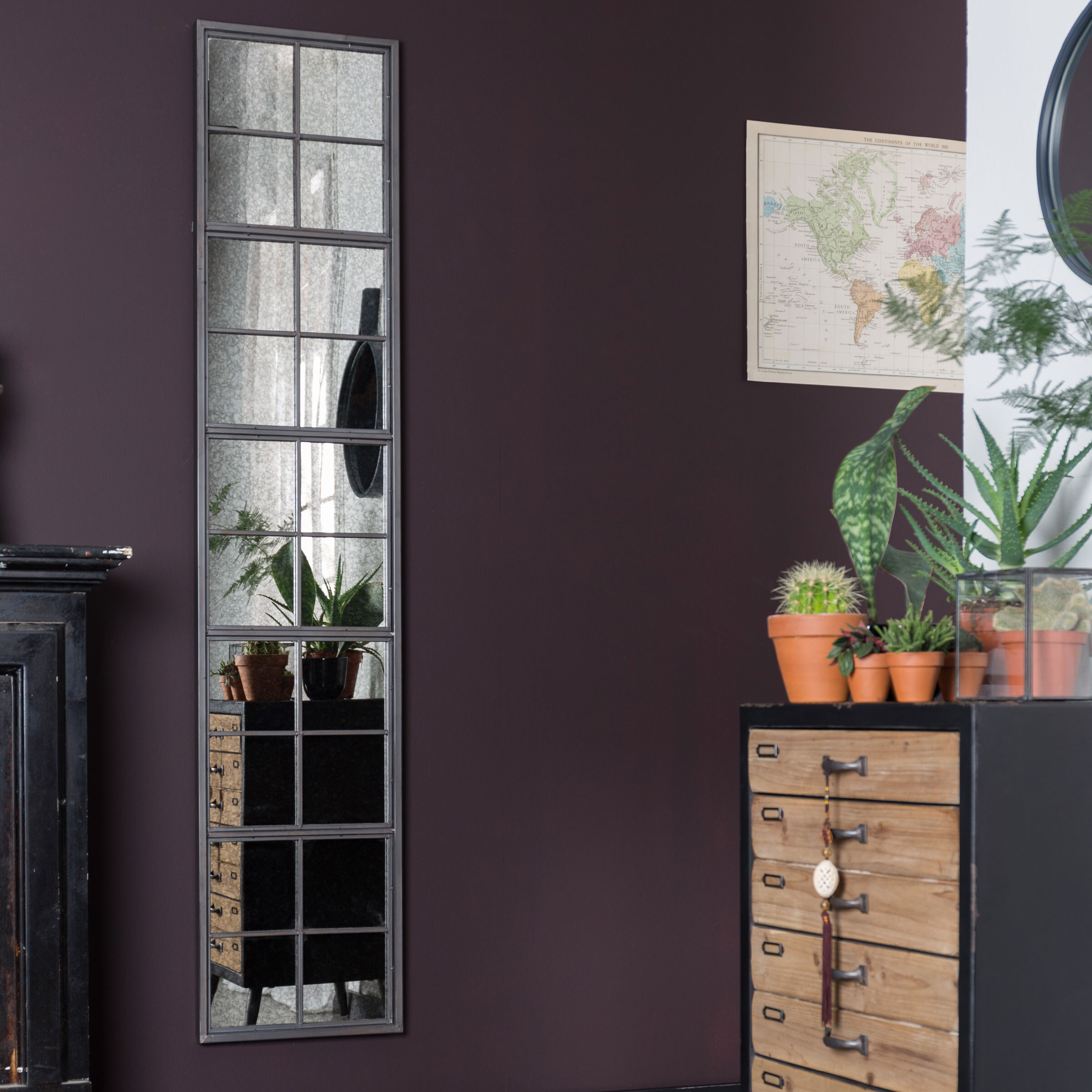 Dutchbone Spiegel 'Vintage Window' 178 x 37.5cm online kopen