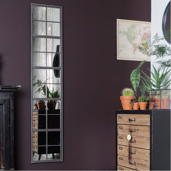 Dutchbone Spiegel 'Vintage Window' 178 x 37.5cm