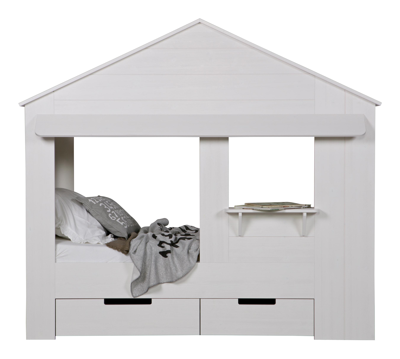 WOOOD Bed 'Huisie', kleur Wit