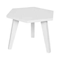 Woood Bijzettafel 'Hex' 60cm, kleur wit