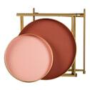 Woood Bijzettafel 'Julez' Set van 2 stuks, kleur Roze