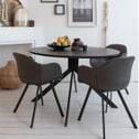 WOOOD Ronde Eettafel 'Bruno' 120cm, kleur Zwart