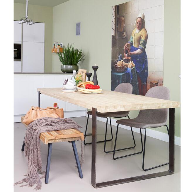 WOOOD Eettafel 'Jamie' Eiken