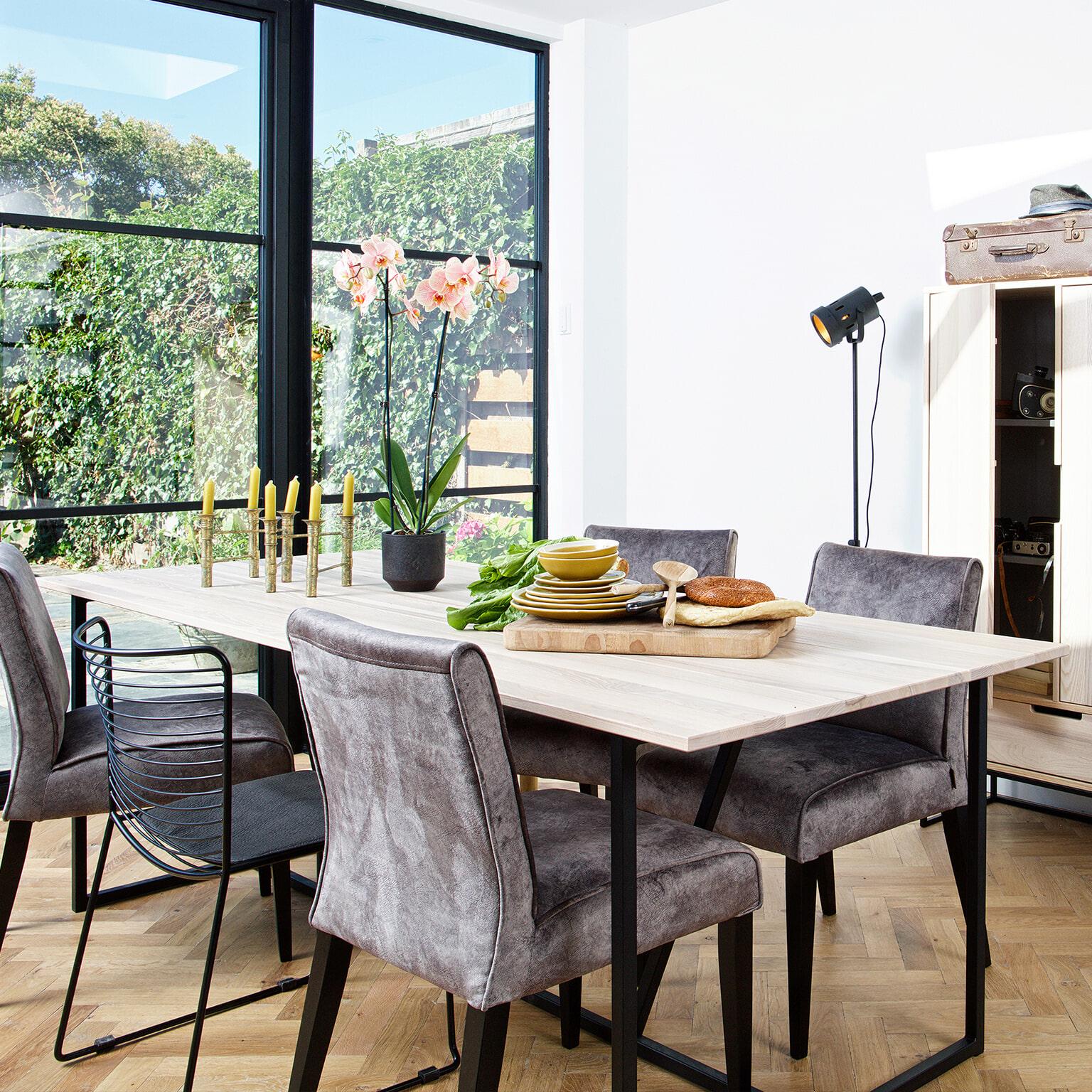 WOOOD Eettafel 'Silas' Essen 220 x 90cm, kleur Sydney