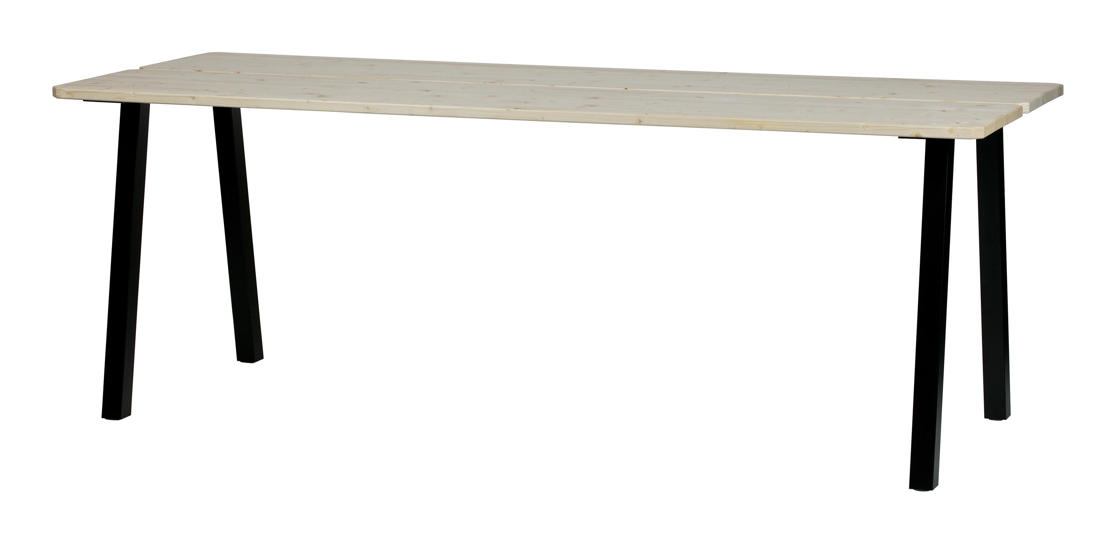 WOOOD Eettafel 'Triomf' 210 x 77cm, kleur Onbehandeld