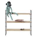 Woood Hangend Wandrek 'Meert' met 3 planken, kleur Zwart