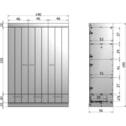 WOOOD Kledingkast 'Connect' 3 deuren en 3 laden, kleur betongrijs