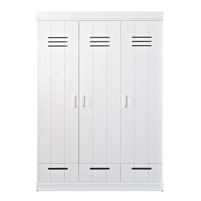 WOOOD Kledingkast 'Connect' 3 lockerdeuren en 3 laden