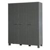 Woood Kledingkast 'Dennis' 3-deurs, kleur Steel grey