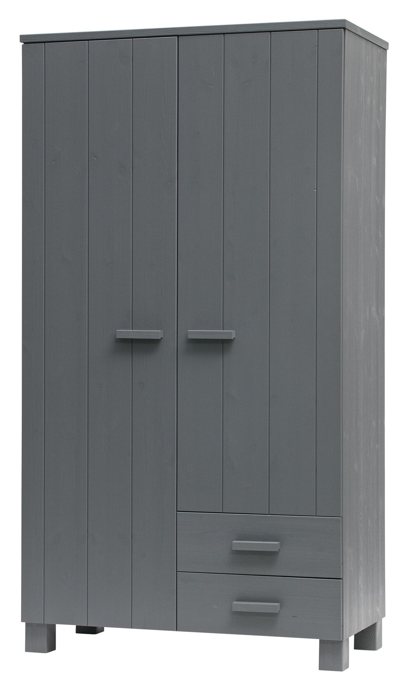 WOOOD Kledingkast 'Dennis', kleur Steel grey