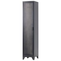 WOOOD Locker 'Cas' metaal met 1 deur, kleur zwart