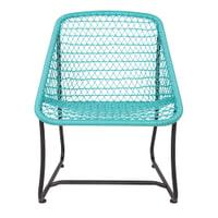 WOOOD Lounge-tuinstoel 'Vigo', kleur Turquoise