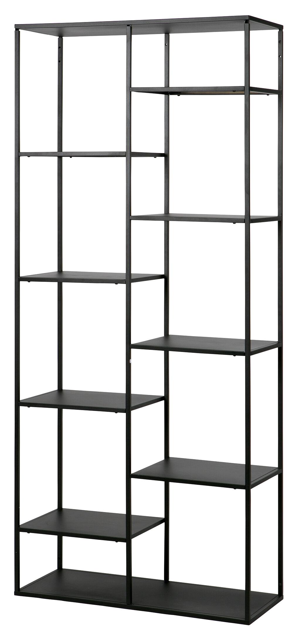 WOOOD Metalen Wandrek 'June' 85cm, kleur Zwart Metaal in kleur zwart gelakt aanschaffen? Kijk hier!