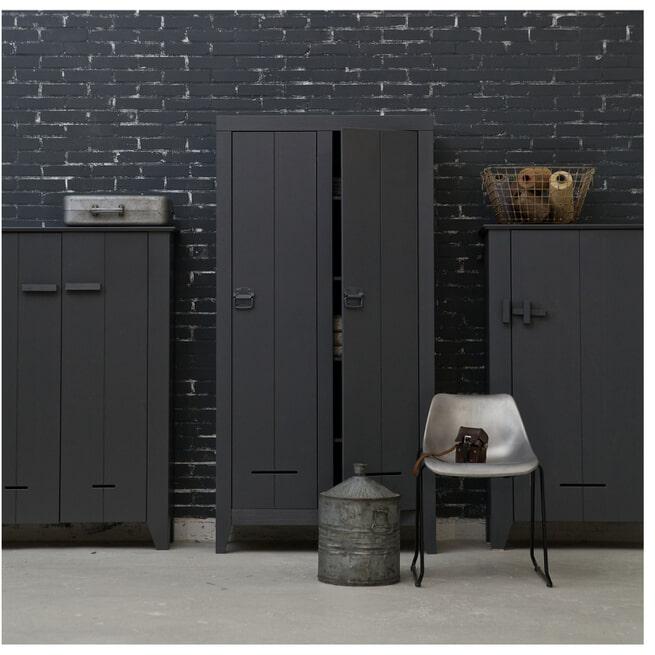 WOOOD Opbergkast 'Kluis', kleur grijs