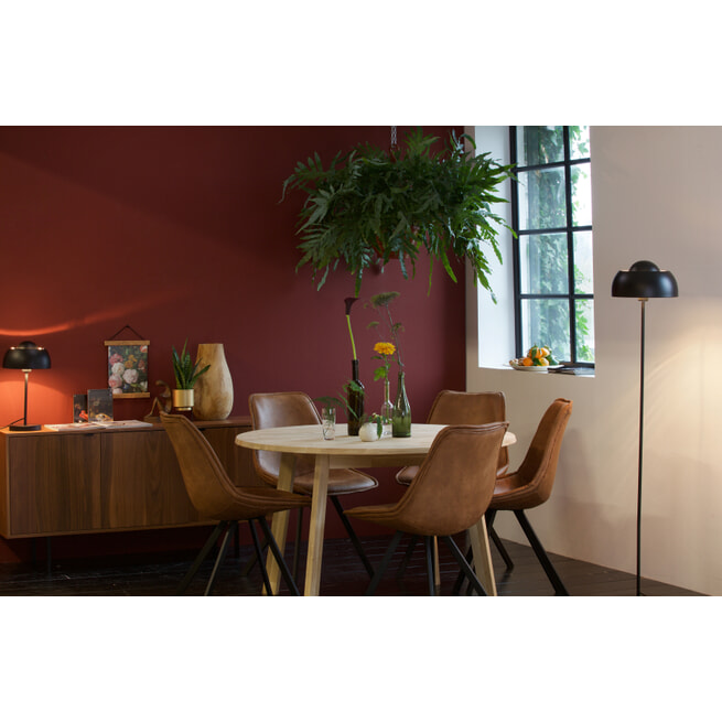 WOOOD Ronde Eettafel 'Disc' 120cm, kleur Eiken