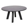 Woood Ronde Eettafel 'Rhonda XL' Eiken, 150cm, kleur zwart