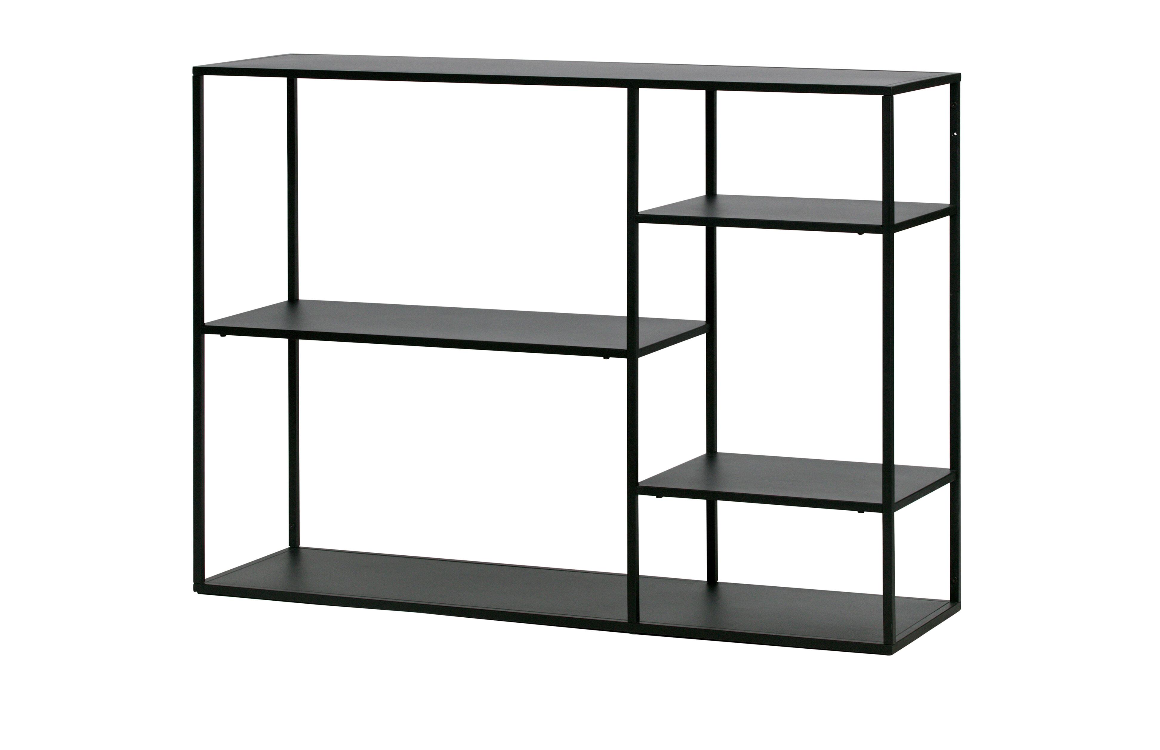 WOOOD Side table 'June', kleur Zwart