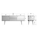 WOOOD Tv-meubel 'Retro' 150cm