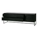 Woood TV-meubel 'Silas' Eiken 180cm, kleur geborsteld Blacknight