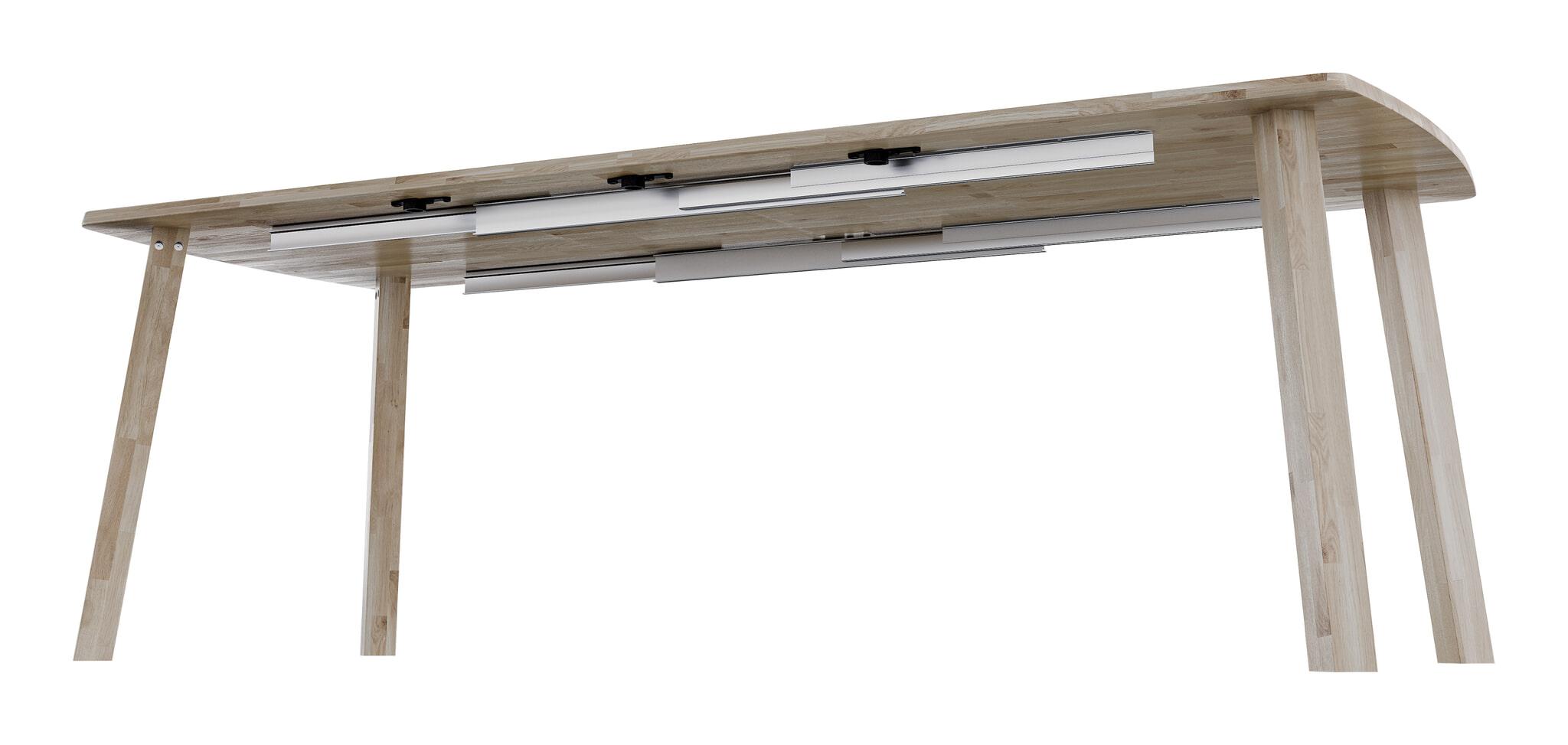 Lange Uitschuifbare Eettafel.Woood Uitschuifbare Eettafel Lange Jan 85 X 140 220cm