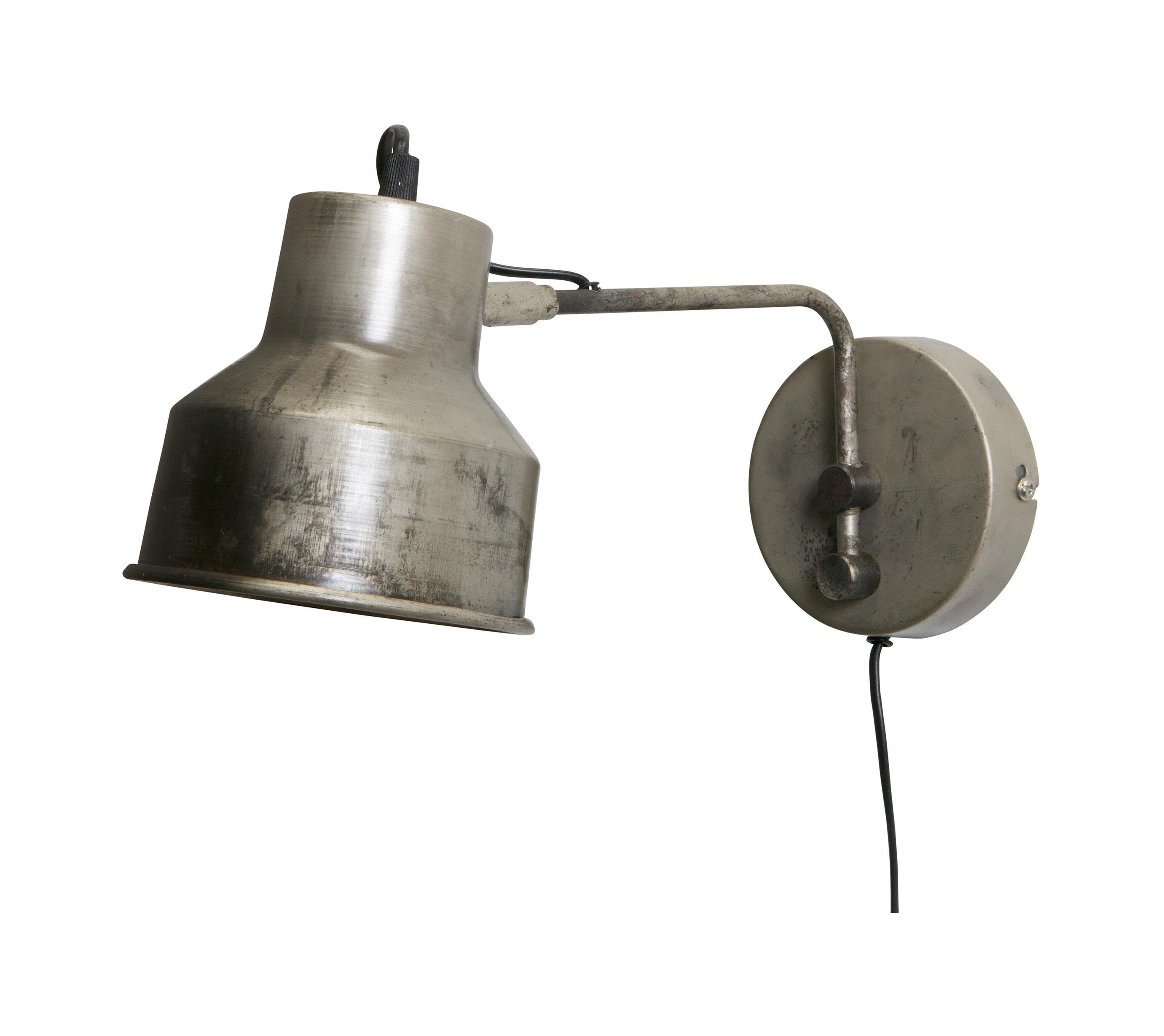 WOOOD Wandlamp 'Hector', kleur antiek zilver