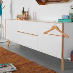 Kave Home Dressoir 'Melan', met 2 deuren en 2 laden